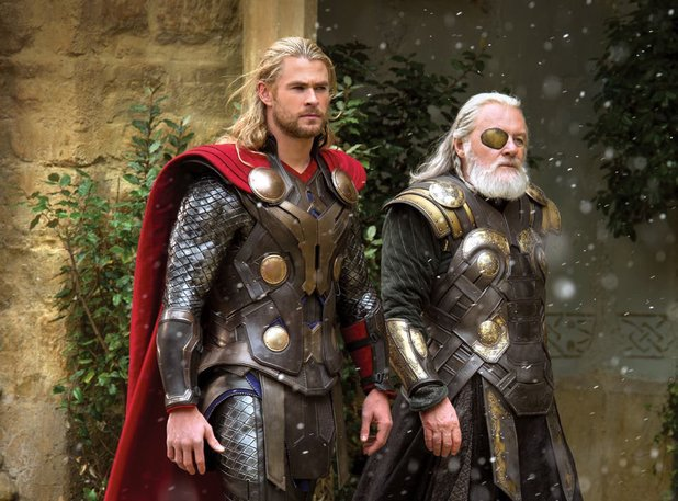 Chris Hemsworth and Anthony Hopkins in 'Thor: The Dark World'