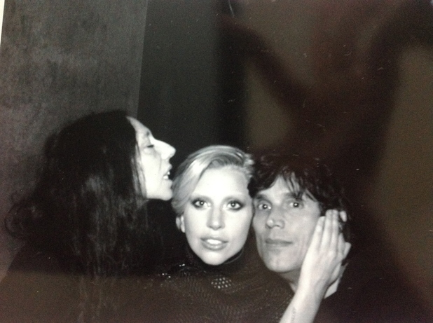 Lady Gaga with video directors Inez and Vindooh.