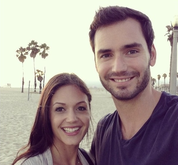 Bachelorette couple Desiree Hartsock and Chris Siegfried on the beach