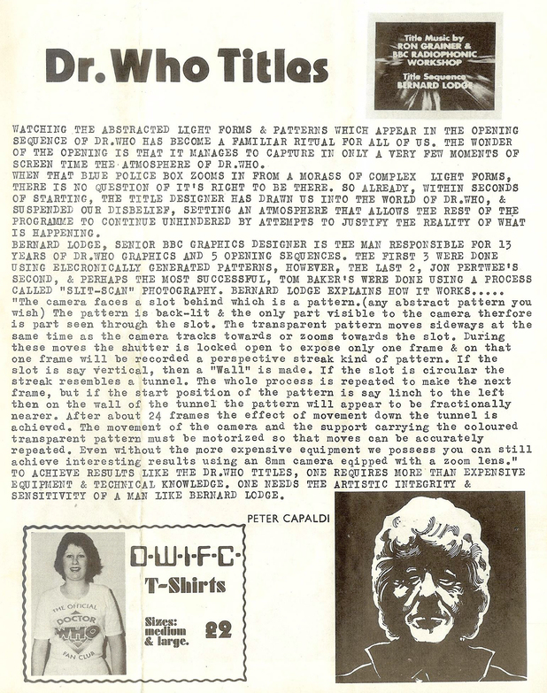 Peter Capadli fanzine article