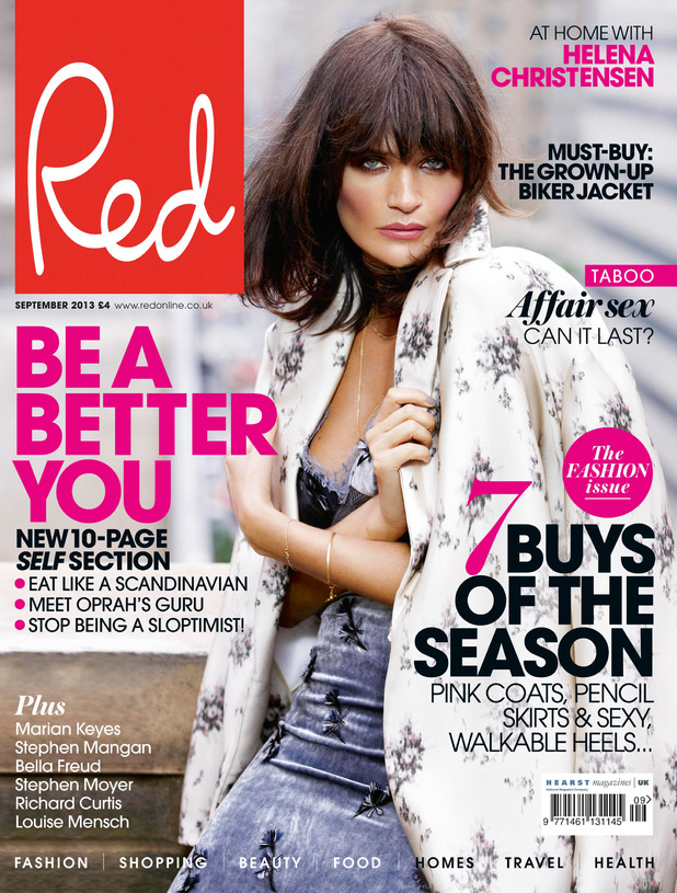 Helena Christensen on the cover of Red magazine