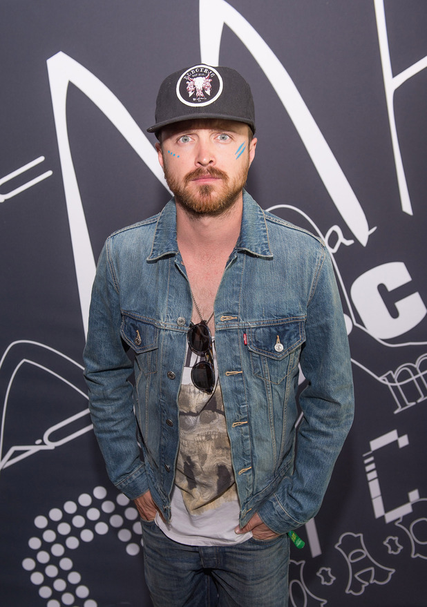 Aaron Paul attends as MAC Cosmetics and Haim celebrate Lollapalooza Weekend at Vertigo Sky Lounge on August 4, 2013 in Chicago, Illinois