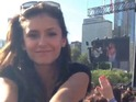 Vampire Diaries star uploads footage from the Chicago music festival to Instagram.