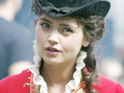 The Doctor Who star in costume as Lydia Wickham in the period drama.