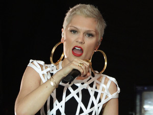 Jessie J performs on the Virgin Media Stage during day one of the V Festival at Hylands Park in Chelmsford
