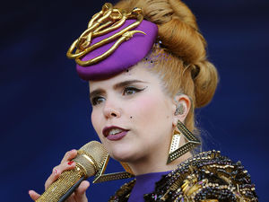 Paloma Faith performs on the Virgin Media stage during day two of the V Festival at Weston Park in Weston-under-Lizard.