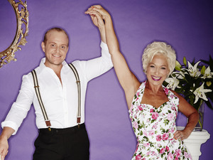 Denise Welch and Lincoln Townley in 'Stepping Out'