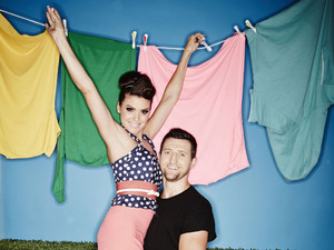 Rachael Cordingley and Carl Froch in 'Stepping Out'