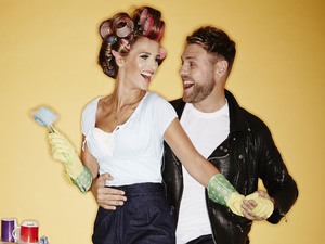 Vogue Williams and Brian McFadden in 'Stepping Out'