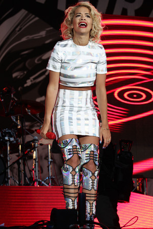 Rita Ora performing on the 4 Music Stage