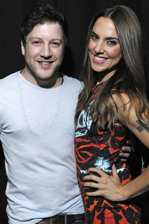 Matt Cardle and Melanie C performing at G-A-Y