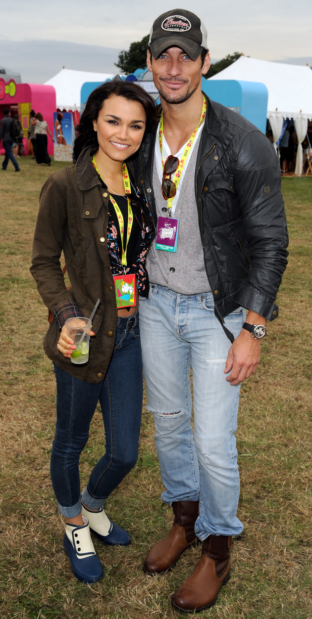 Samantha Barks and David Gandy
