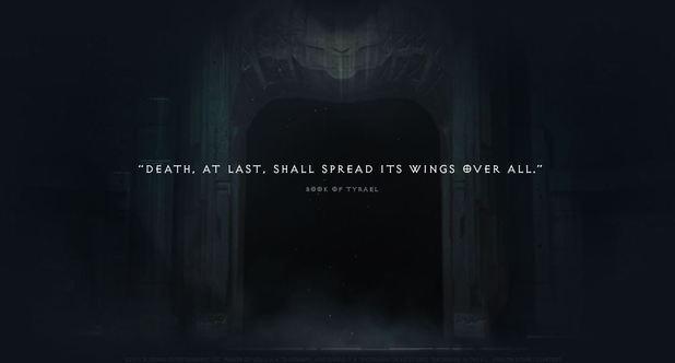 Diablo 3 'Reaper of Souls' teaser site