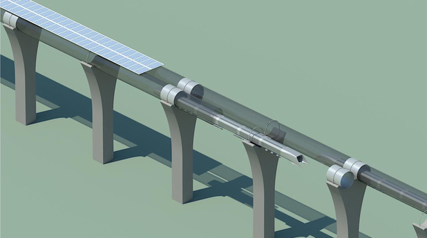 Hyperloop Alpha conceptual design art