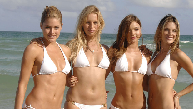 Victoria's Secret Supermodels Swimsuit Photocall at Fontainebleau Miami Beach Resort, Miami Beach, Florida, America - 14 Nov 2008 Doutzen Kroes, Karolina Kurkova, Miranda Kerr, Alessandra Ambrosio
