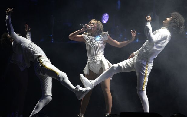 Beyoncé performing at V Festival