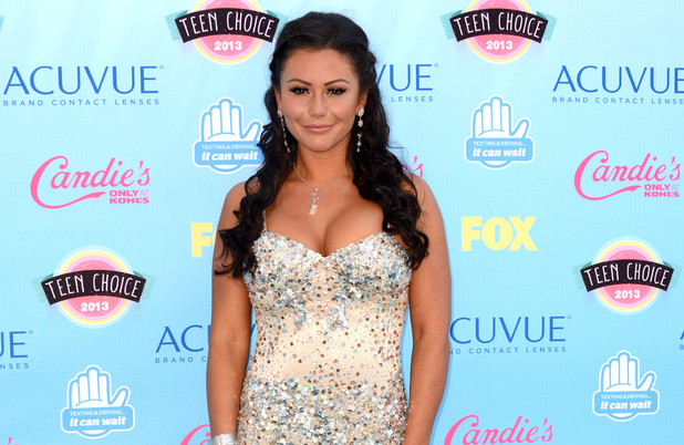 "Jenni ""Jwoww"" Farley arriving at the Teen Choice Awards 2013"