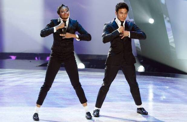 "Jasmine Harper and all-star dancer Marko Germar perform a Jazz routine to ""Blurred Lines"" choreographed by Ray Leeper"