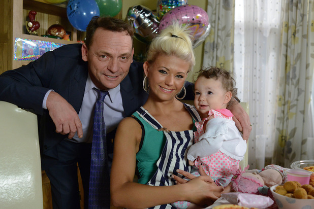 EastEnders: Danielle Harold as Lola with Perry Fenwick as Billy