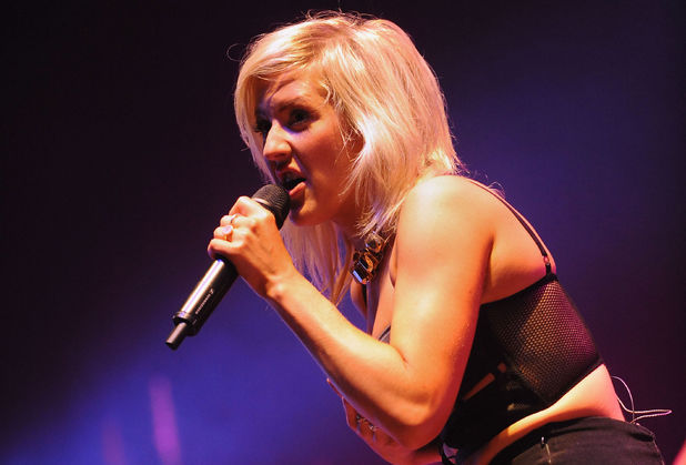 Ellie Goulding performs on the Arena stage during day one of the V Festival at Weston Park