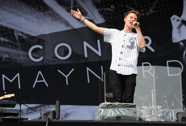 Conor Maynard performs at V Festival in Chelmsford.