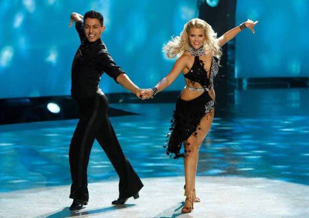 "Paul Karmiryan and all-star dancer Witney Carson perform a Cha Cha routine to ""Live It Up"" choreographed by Jean-Marc Genereux"