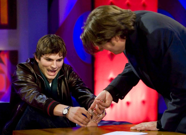'Friday Night with Jonathan Ross' TV Show, London, Britain - 25 Apr 2008 Ashton Kutcher and Jonathan Ross 25 Apr 2008