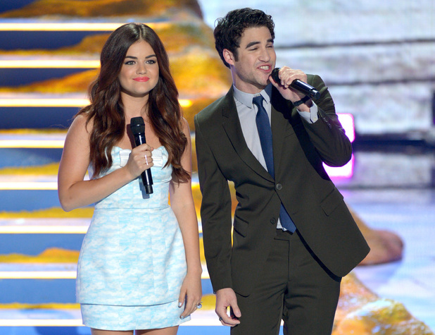Lucy Hale and Darren Criss