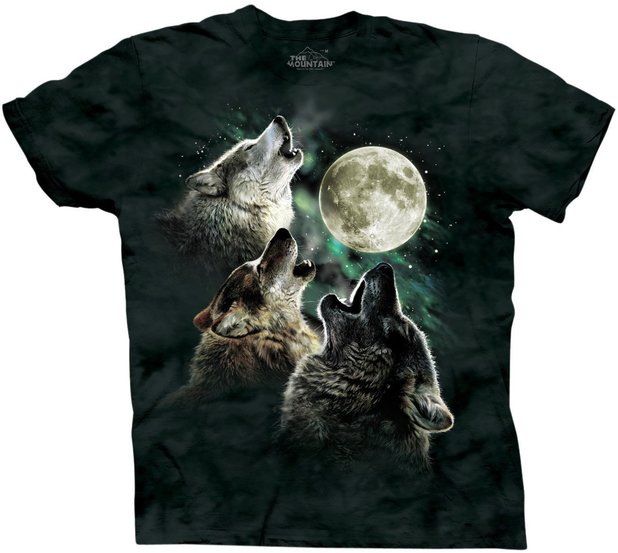 The Mountain Three Wolf Moon T-shirt