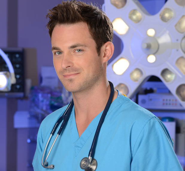 Jules Knight as Harry Tressler in Holby City