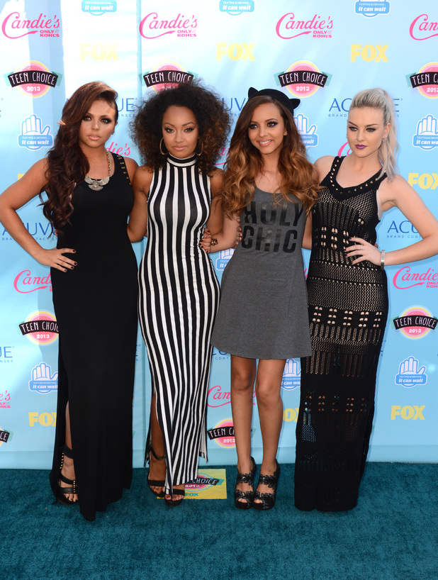 Little Mix arriving at the Teen Choice Awards 2013