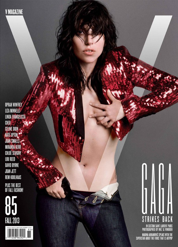 Lady GaGa's custom Saint Laurent look for V Magazine