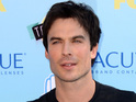 The Vampire Diaries star rescues a dog named Nietzsche.
