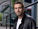 Jamie Lomas also reveals kissing scenes are awkward.