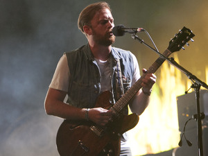 Caleb Followill of Kings of Leon performs on the Virgin Media Stage at V Festival 2013