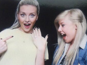 Perrie Edwards shows off her engagement ring