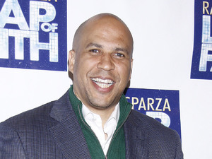 Cory Booker at opening night of 'Leap of Faith' musical
