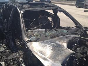 Dick Van Dyke's car burnt out