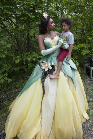 Jennifer Hudson behind the scenes of her Princess Tiana Disney portrait