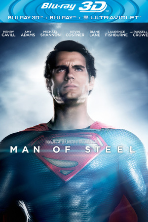 Man of Steel Blu-ray 3D cover
