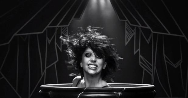 Lady Gaga 'Applause' music video still.