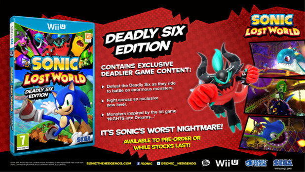 'Sonic Lost World: Deadly Six Edition'