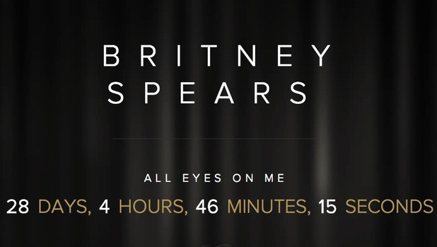 Britney Spears 'All Eyes On Me' countdown