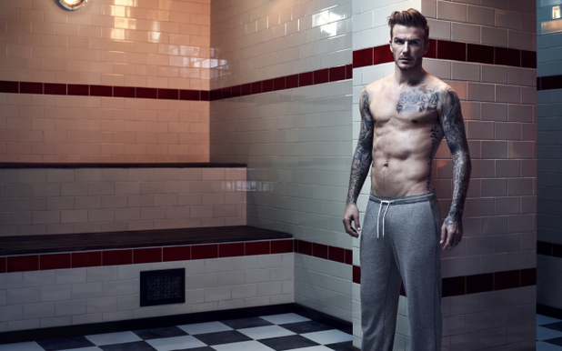 David Beckham strips down for new H&M photo shooot