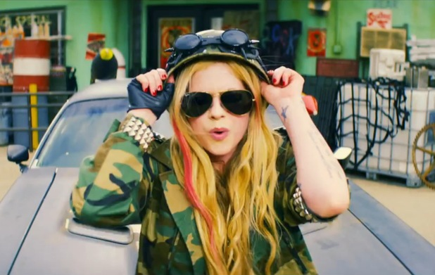 Avril Lavigne in 'Rock N Roll' video