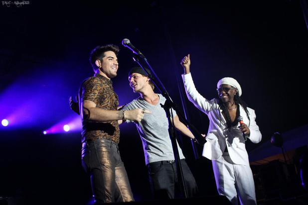 Avicii, Adam Lambert, Nile Rodgers perform together
