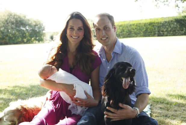 The Duke and Duchess of Cambridge with Prince George of Cambridge