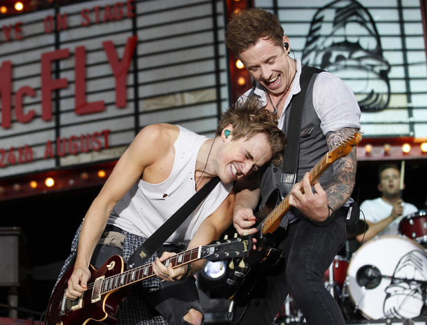McFly perform live at Newmarket Racecourse