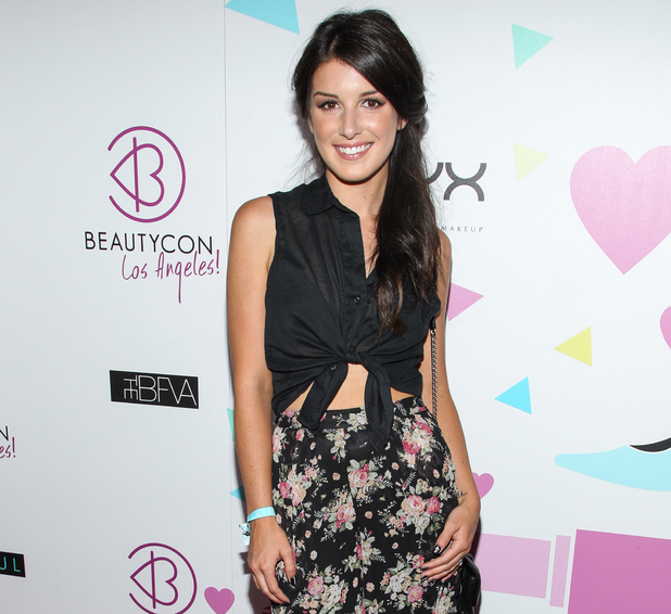 Shenae Grimes arrives at BeautyCon Summit Hollywood in Los Angeles.