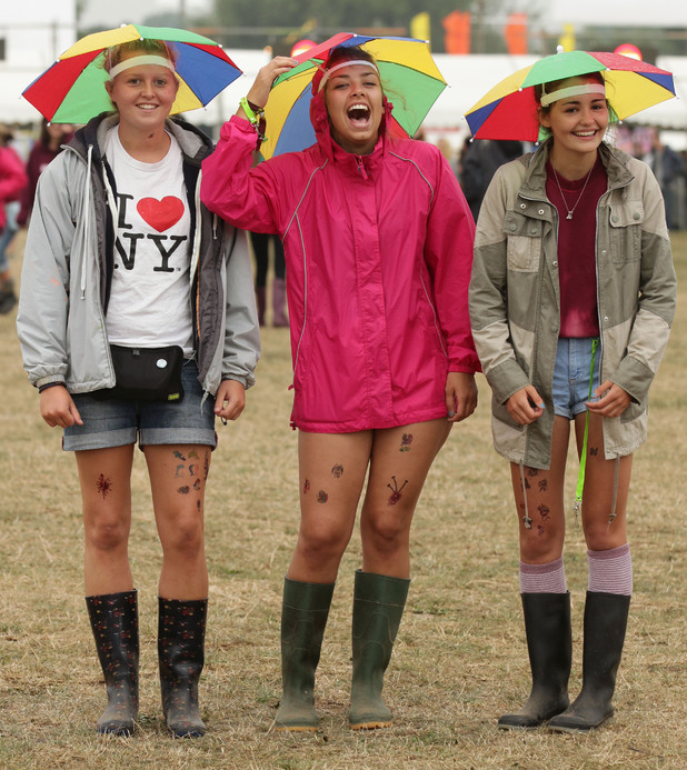 The rain isn't dampening the spirit of the festival.
